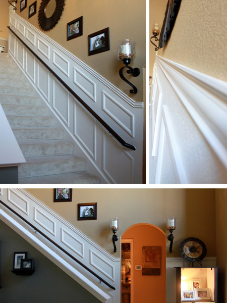 Over at decorchick, Emily transformed a plain staircase into a feature that immediately catches you eye when you enter the home.