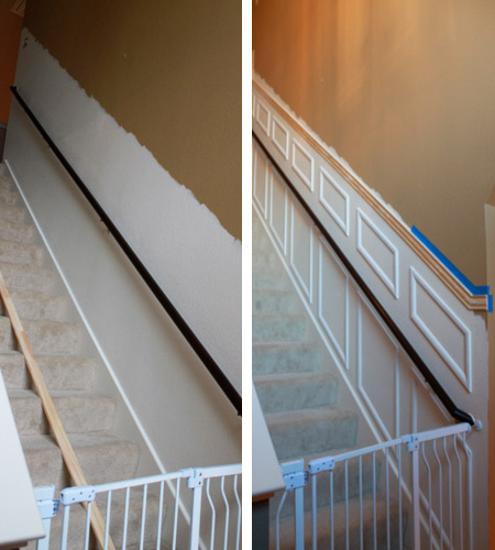 Dress up a staircase with moulding