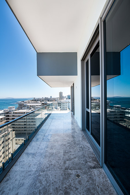 Fairmont Penthouse - sophisticated treatment for the three-bedroomed, double-storey penthouse apartment of The Fairmont in Sea Point, Cape Town
