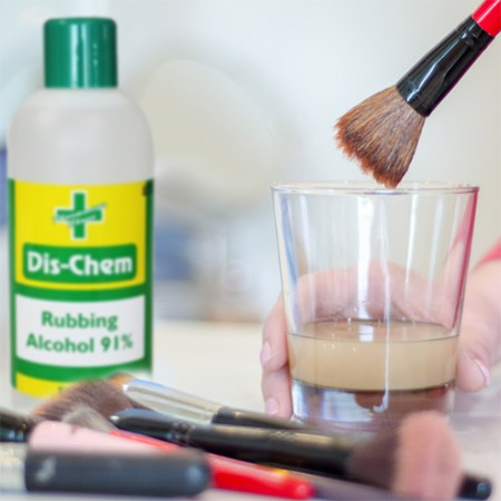 rubbing alcohol Clean and Sanitise Makeup gear
