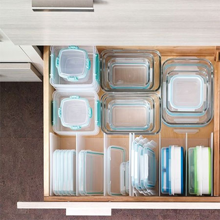 Organise your Tupperware with dividers
