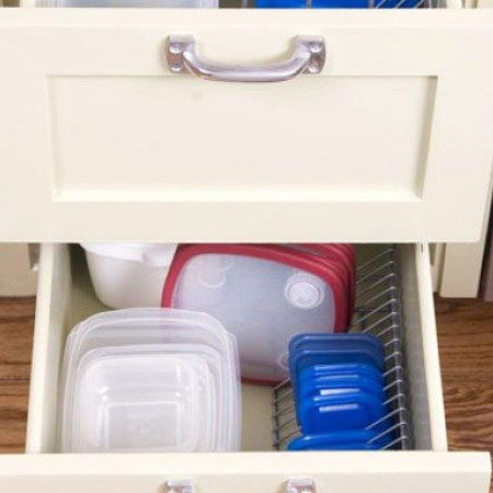 Organise your Tupperware with cd racks
