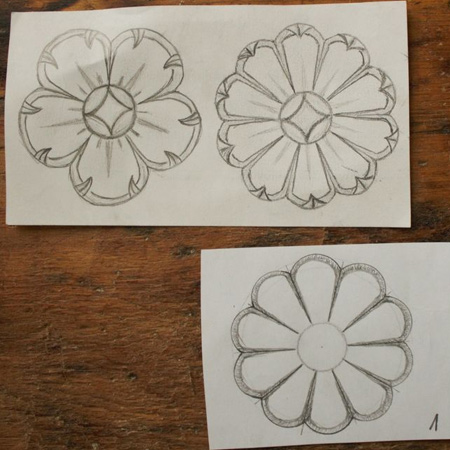 wood carving flower designs