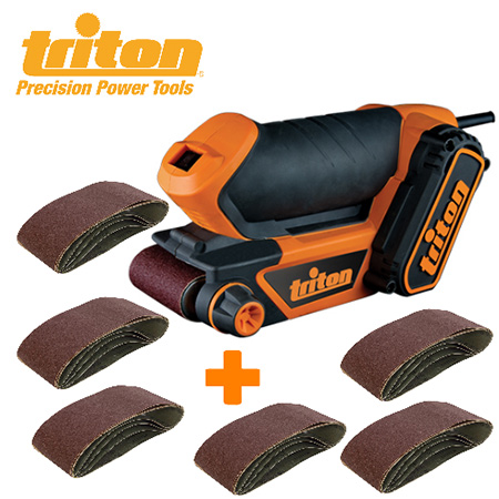 Take advantage of this special offer and get the Triton Palm Sander plus 6 sanding belts for R895.85