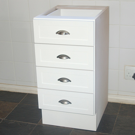 build 4-drawer cupboard