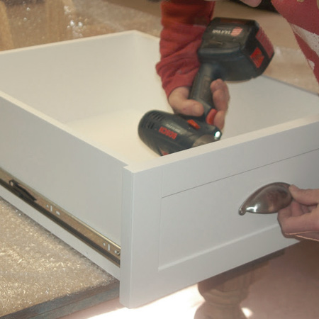add handles to drawers