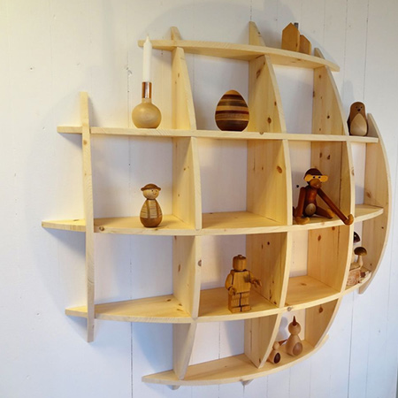 Make this pine knick knack shelf to fill up a blank wall and be an interesting feature.