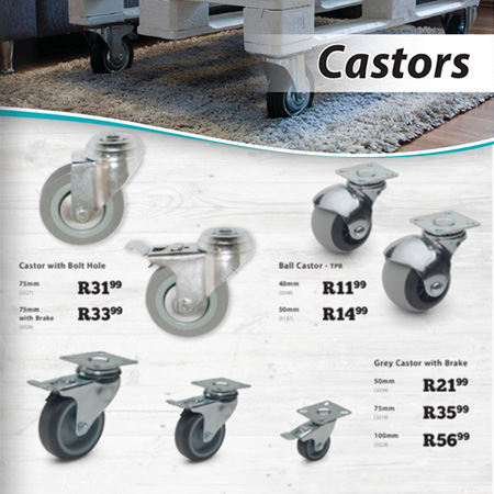 buy castor wheels at gelmar