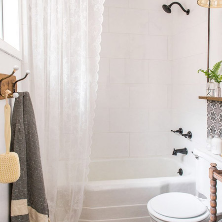 light and airy shower curtain
