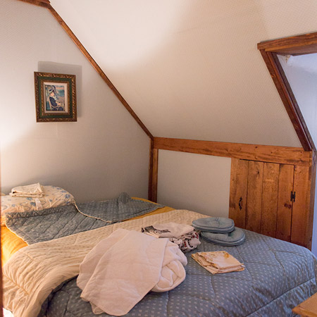 The second bedroom is a difficult one, as it sits within the eaves of the roof
