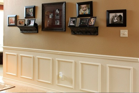 use moulding and paint to turn a plain wall into an eye-catching feature wall