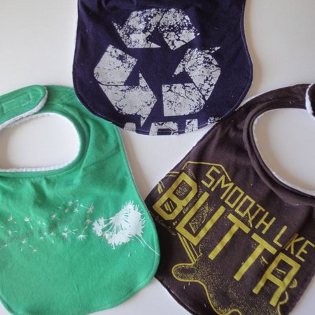 bibs for baby are another way to put old t-shirts to good use