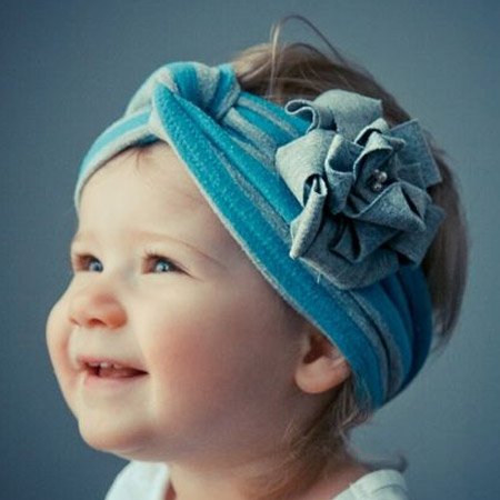 stretchy fabric of t-shirts makes them ideal for headbands