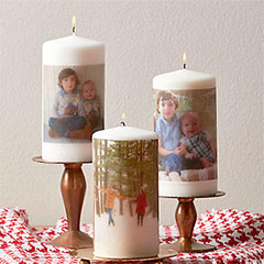 photo candles as gifts