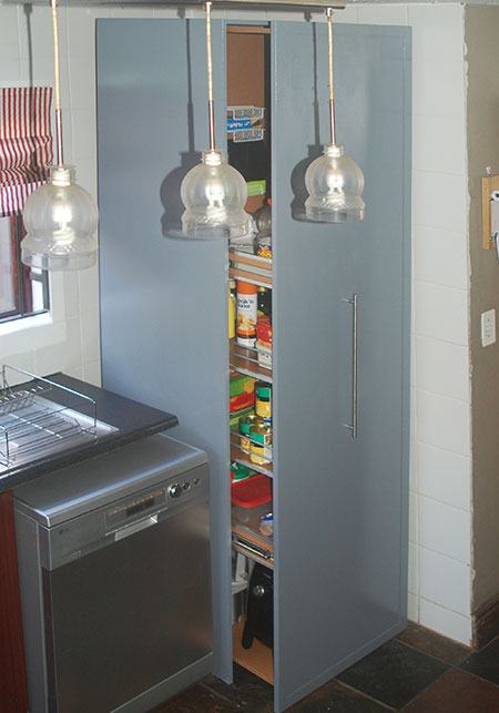 pullout pantry for kitchen storage