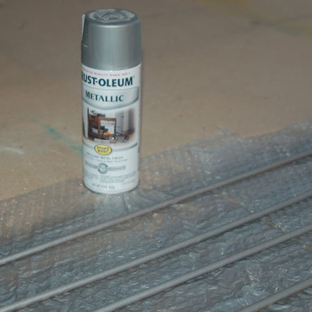 Rust-Oleum metallic spray for pullout pantry