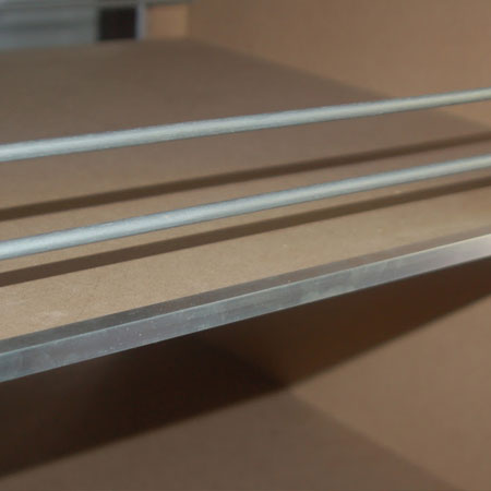 aluminium edging for shelves