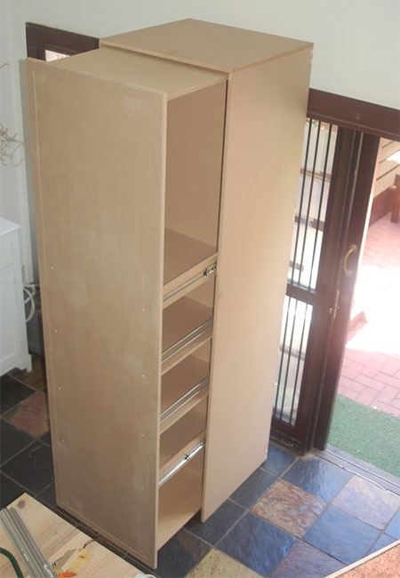 finished pullout pantry