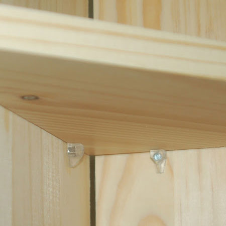 use shelf pins for remaining shelves
