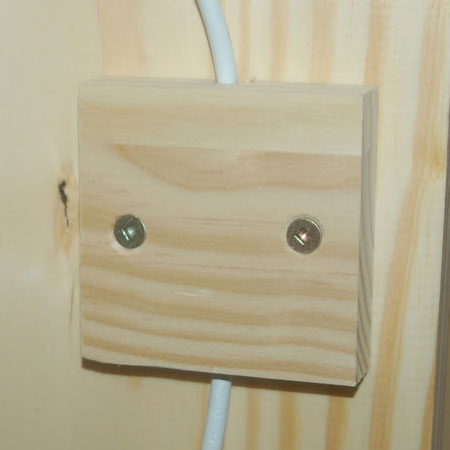 cover plate behind light switch