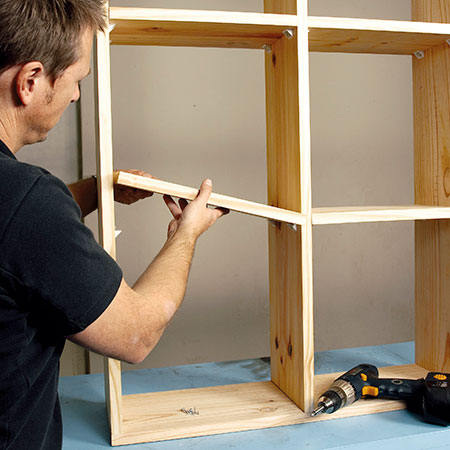 pine shelf unit or room divider