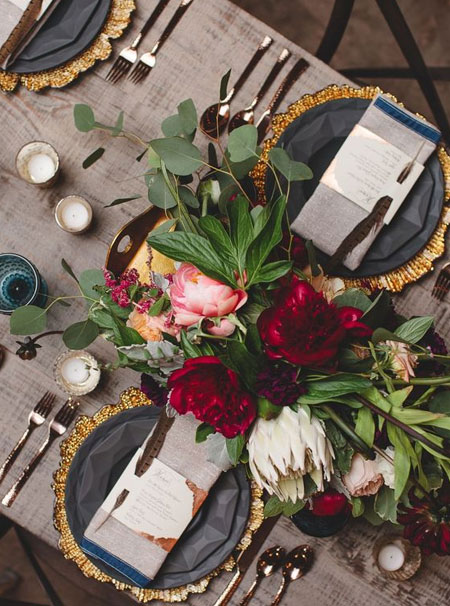 all natural festive table decor