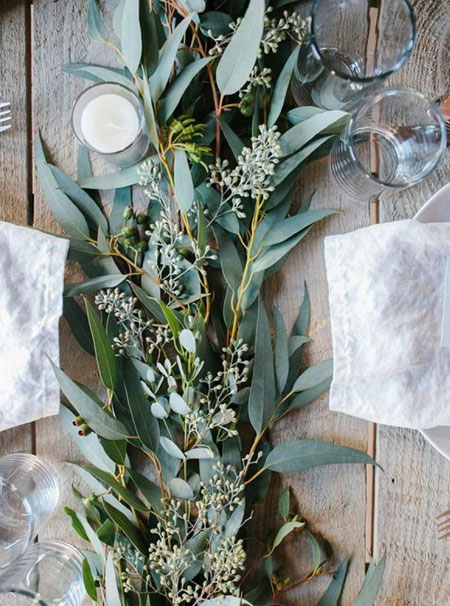 all natural christmas table decor