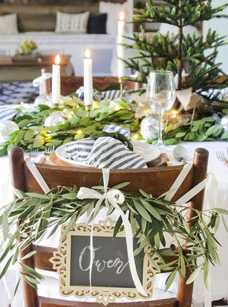 natural greenery for table settings