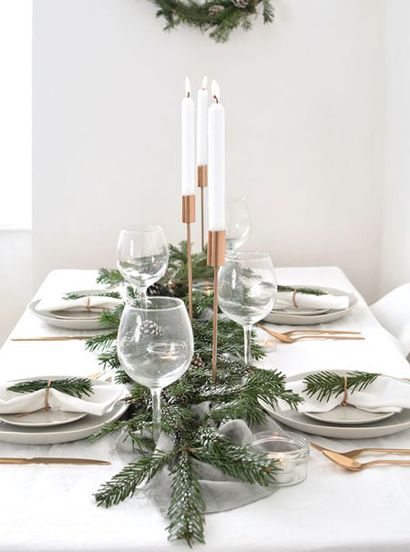 nature inspired holiday table decor