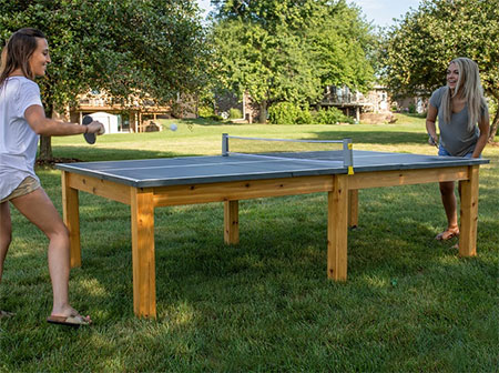 make a ping pong table
