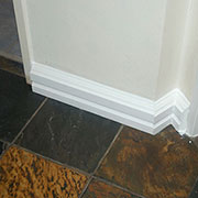 install over skirtings
