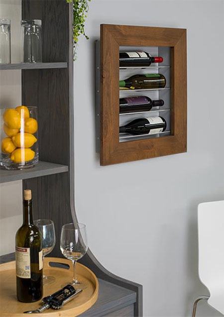 par pine wine display frame