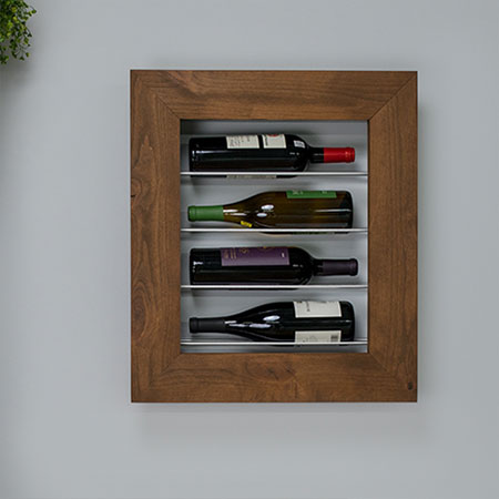 PAR pine wine display case
