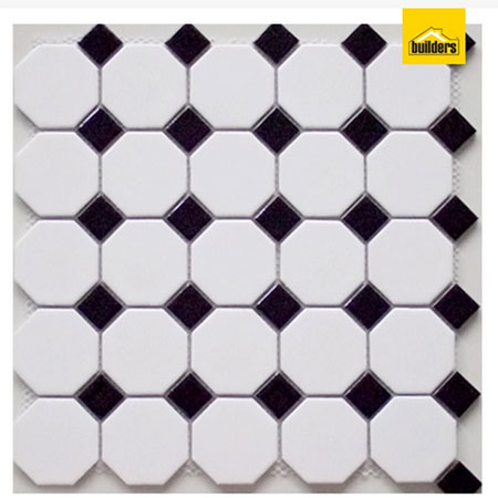 builders black and white mosaic tiles