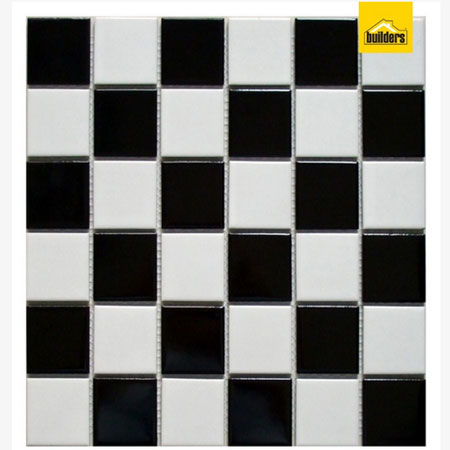 black and white mosaic tile builders