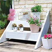 make a step shelf for your plants