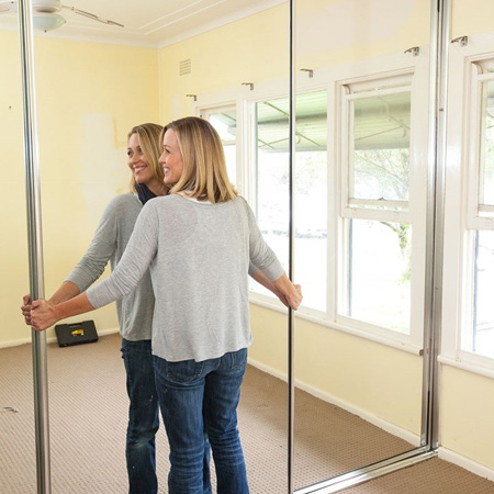 replace mirror doors with panel doors