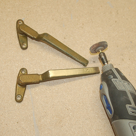 restore brass hardware with dremel multitool