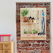 pegboard wall shelf