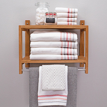 diy easy bathroom shelf