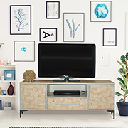 TV unit with wood veneer