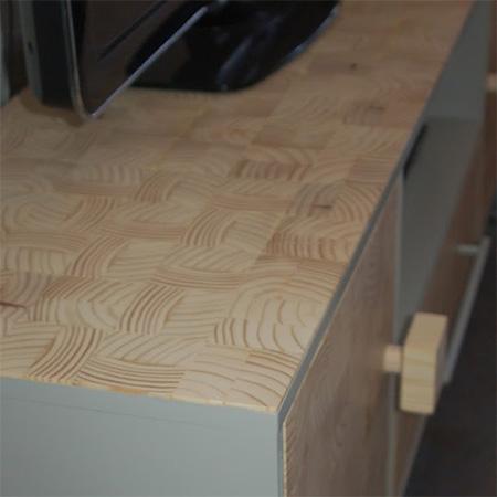 wood slice veneer for TV unit