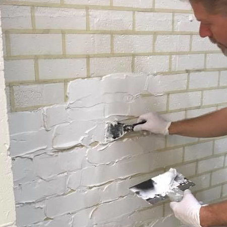 how to faux brick wall