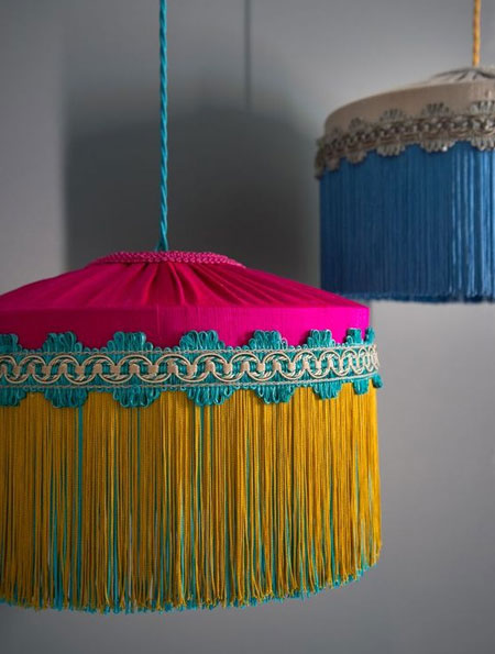 diy fringe lamp or lamp shade