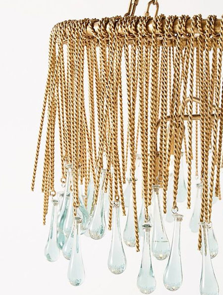 gold chain chandelier