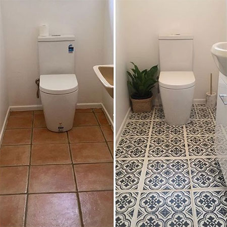 Home Dzine Can You Paint A Tiled Floor