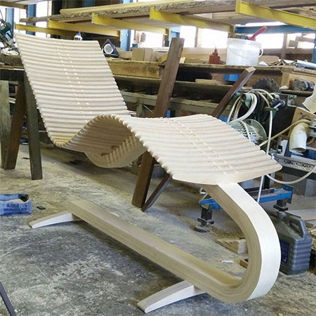 plywood lounger chair