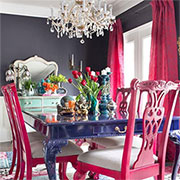colourful dining rooms