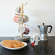 dowel coffee mug stand