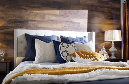 Home Dzine Home Improvement Create A Feature Wall With Laminate Flooring